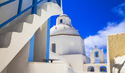 Santorini - unique cycladic architectural details