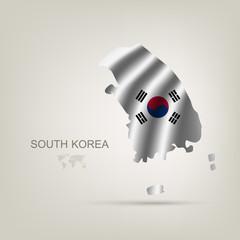 flag of South Korea as a country