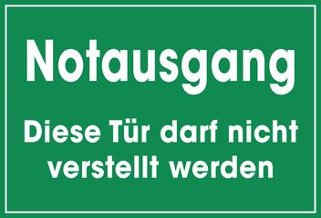Schild Notausgang