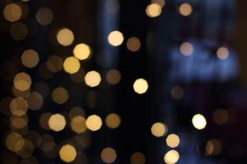 Bokeh. Abstract Christmas light background, new year