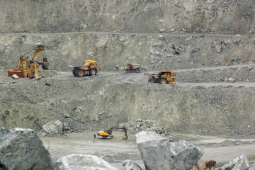 BelAZ, excavators do the work