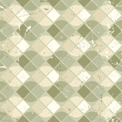 Vintage wavy geometric seamless pattern, vector neutral worn bac