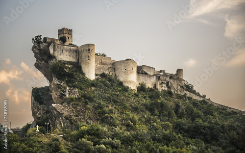 Tuinposter Historisch geb. Fortress on the rock