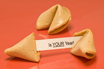 Your Year Fortune Cookie With Blank Year