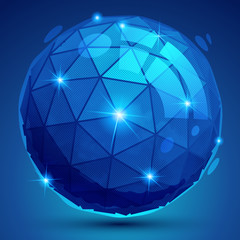 Plastic pixel colorful dimensional element, sparkle synthetic do