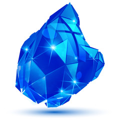 Plastic grain colorful dimensional geometric object, sparkling s