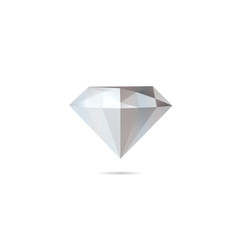Abstract diamond isolated on a white backgrounds