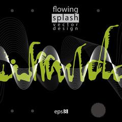 Modern vector inky wallpaper, eps8 flowing lines, ephemeral blob