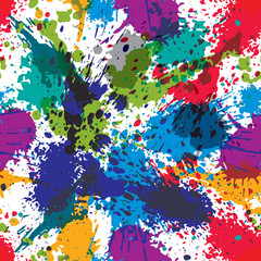 Artistic colorful abstract dirty ink template, scanned and trace