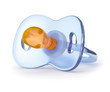 blue silicone pacifier