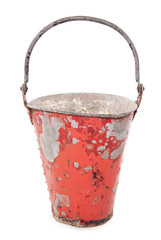 rusty vintage fire bucket