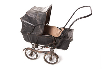 Antique Edwardian black pram