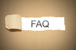 brown paper torn to reveal white space faq
