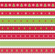 Red green Christmass ribbons set - 73896069