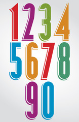 Colorful comic animated tall numbers with white outline.