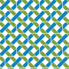 Colorful geometric seamless pattern, symmetric endless vector ba