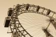 Old ferris wheel in Prater park in Vienna, sepia - 73897673