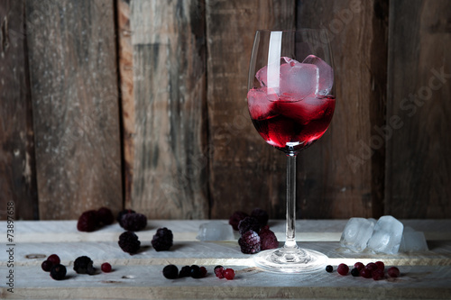 canvas print picture Cocktail - rot