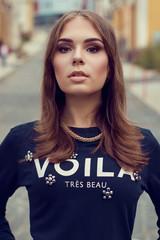 Fashion portrait of young beautiful woman. Model shooting