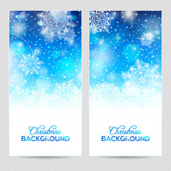 Abstract winter or christmas background, banner or postcard