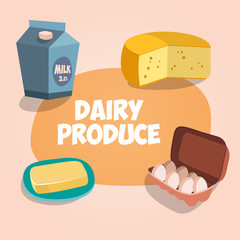 dairy produce vector illustration