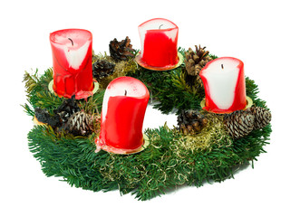 Abgebrannter Weihnachtskranz