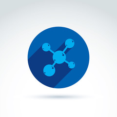 Molecule vector icon.