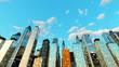 Blauer Himmel über der Stadt