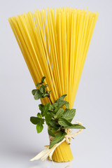 Pasta With Fresh Mint Leaves