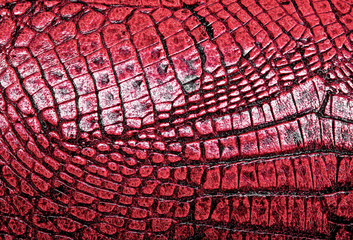 Red alligator patterned background