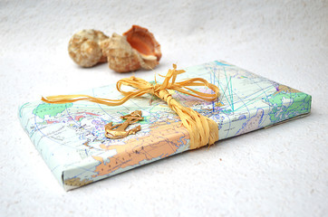 old maps with shells