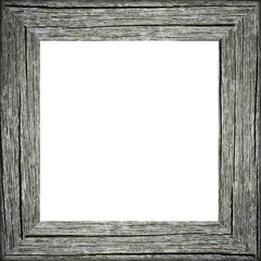 Old raw wooden frame