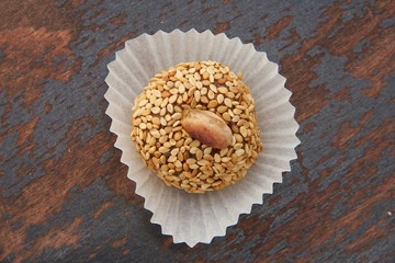 Homemade diet truffles with dried fruits and nuts