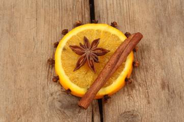 Orange and spice