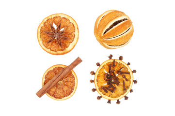 Dried orange and spice