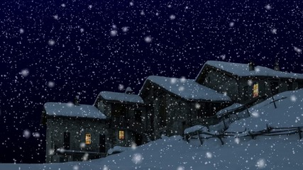 baite di alta montagna sotto la neve