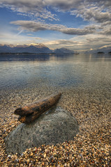 Cloud and water lake Garda