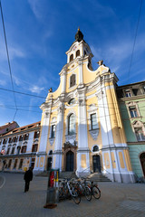 View of Brotherhood Baroque Church on Annenstrasse street