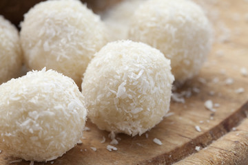 white chocolate and coconut balls