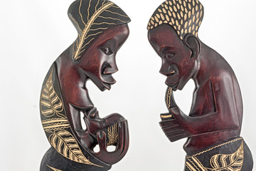 African statuettes
