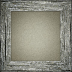 Old frame with grey paper