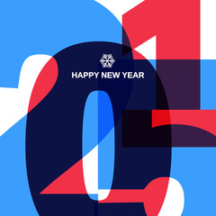Happy New 2015 Year Cover Design