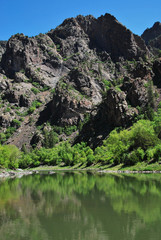 Gunnison river in Black canyon of the Gunnison NP, CO, USA