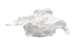 used napkin isolated on white. With clipping path