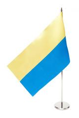 ukraine flag isolated on white background