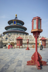 Temple of Heaven with tourists