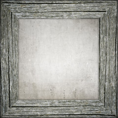 Old frame with canvas