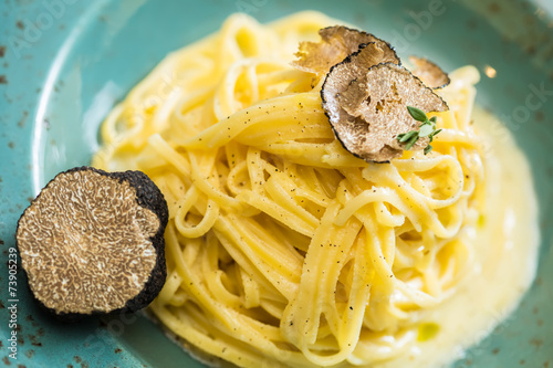 Dish of pasta with truffle - 73905239