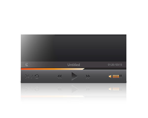 Vector interface of media player