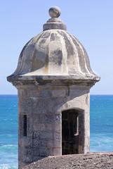 Garita at Castillo de San Cristobal in San Juan